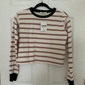 Striped crop sweatshirt